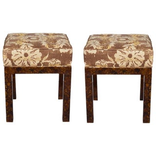 1940s Mid-Century Modern Faux Tortoise Shell Benches - a Pair For Sale