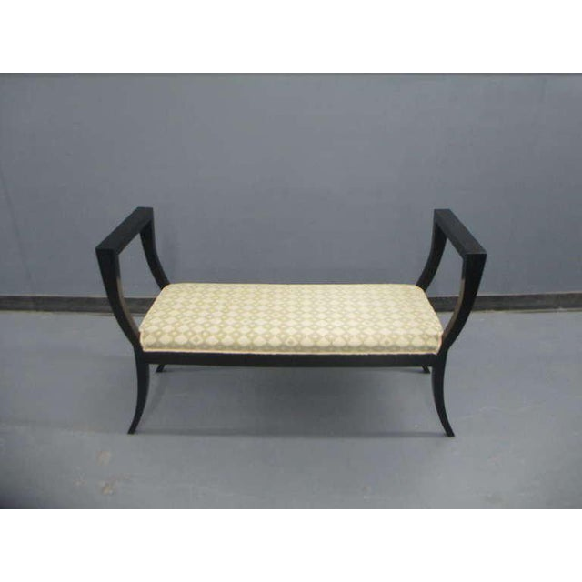 Neoclassical A Sculptural Lacquered Bench in the Neoclassical Manner For Sale - Image 3 of 6