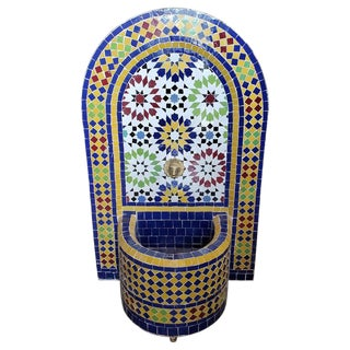 Bella Moroccan Mosaic Arched Fountain For Sale