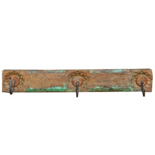 Rustic Antique Wall Hook Panel For Sale