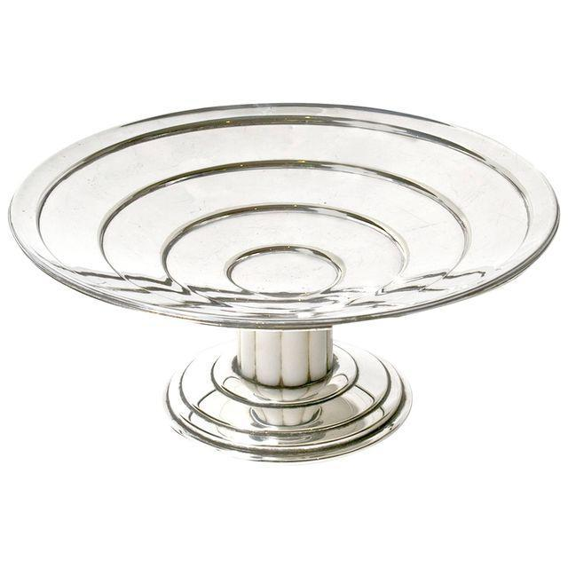 Art Deco Tazza. Silver plated with Bakerlite stem, circa 1930.