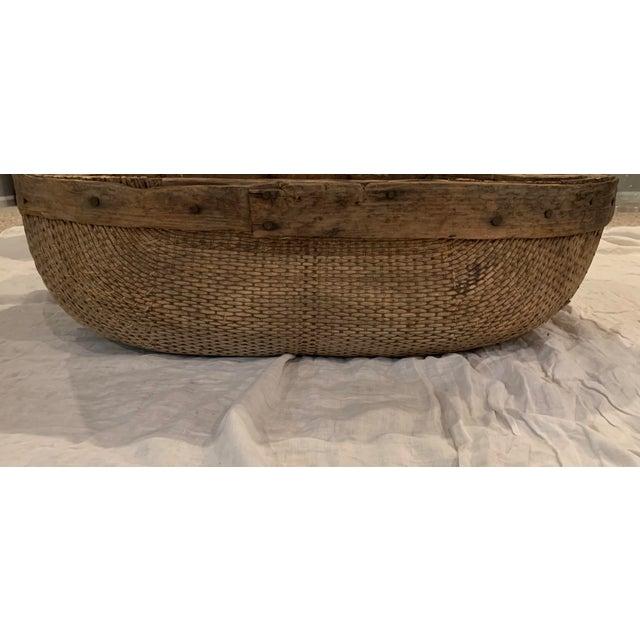 Asian Vintage Asian Market Basket For Sale - Image 3 of 9