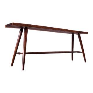 Vintage Sissoo Live Edge Hall Table / Bench For Sale