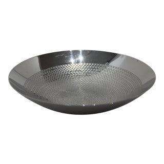German Steel Bowl 1990s Geometric Ornamented For Sale