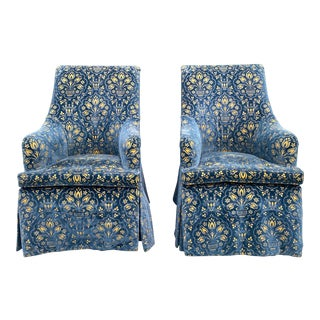 George Smith Georgian Desk Chairs - a Pair For Sale