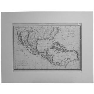 Vaugondy 1812 Southeast America, Caribbean & Mexico Map For Sale