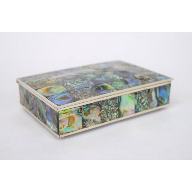 Abalone and Silver Plate Box by Alpaca of Mexico For Sale - Image 10 of 10