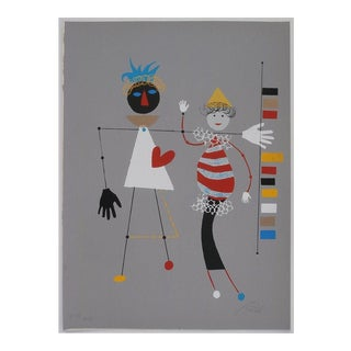 "Wolfgang Roth Circus Series ""Heart Love"" Print, 1960's For Sale"