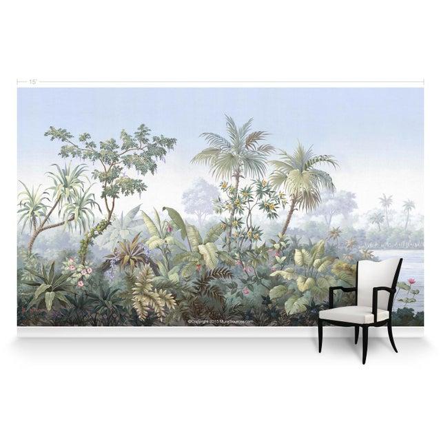 Chinoiserie Casa Cosima Classic Jacinda Wallpaper Mural - Sample For Sale - Image 3 of 6