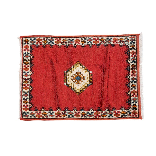 Red Berber Small Rug - 2′4″ × 3′4″ For Sale