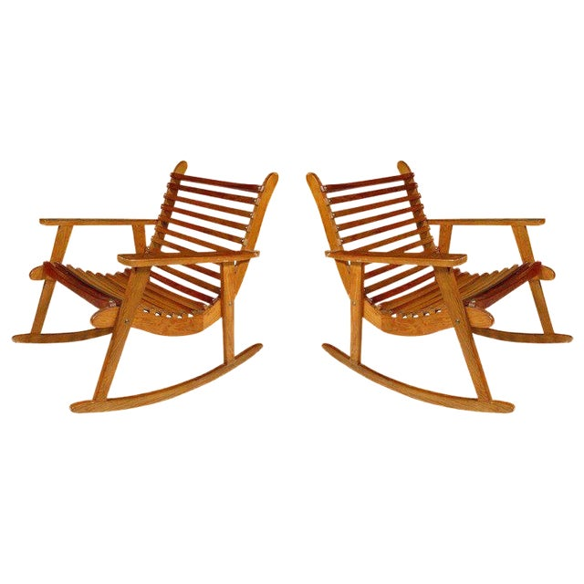 Michael Van Beuren Easy Rocking Chair, Pair for Domus For Sale