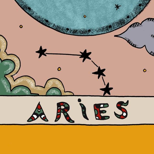 Contemporary Contemporary Aries Horoscope Giclée Print by Artist Hala Salem For Sale - Image 3 of 3