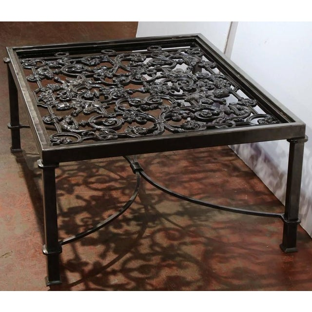 Polished Iron Coffee Table Base For Sale - Image 5 of 10