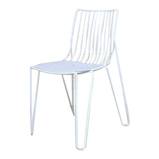 White Powder Coated Outdoor Wire Chair