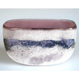 Rare Murano 1960s Alfredo Barbini 'Scavo' Glass Bowl Preview