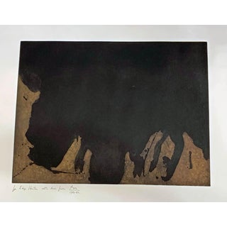 Abstract Robert Motherwell Aquatint Painting Preview