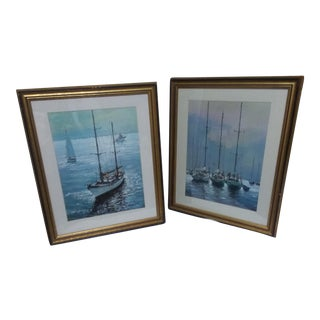 Framed Set of Classic Prints - a Pair For Sale