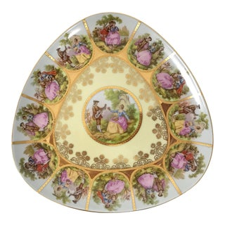"German Ackermann & Fritzer Porcelain ""Love Story"" Plate For Sale"