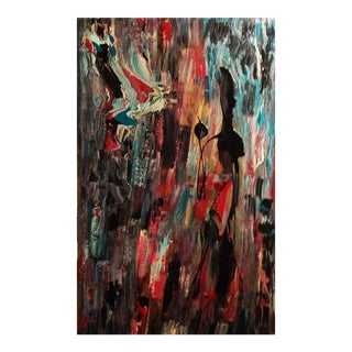 """""""Tribal"""" Original Abstract Painting For Sale"""