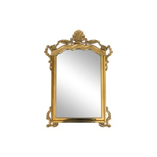 Decorative Vintage Brass Mirror For Sale