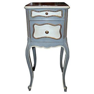 19th C. French Painted Nightstand For Sale