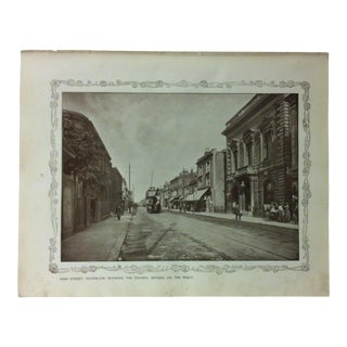 """1906 """"High Street - Hounslow - Showing the Council Offices"""" Famous View of London Print For Sale"""