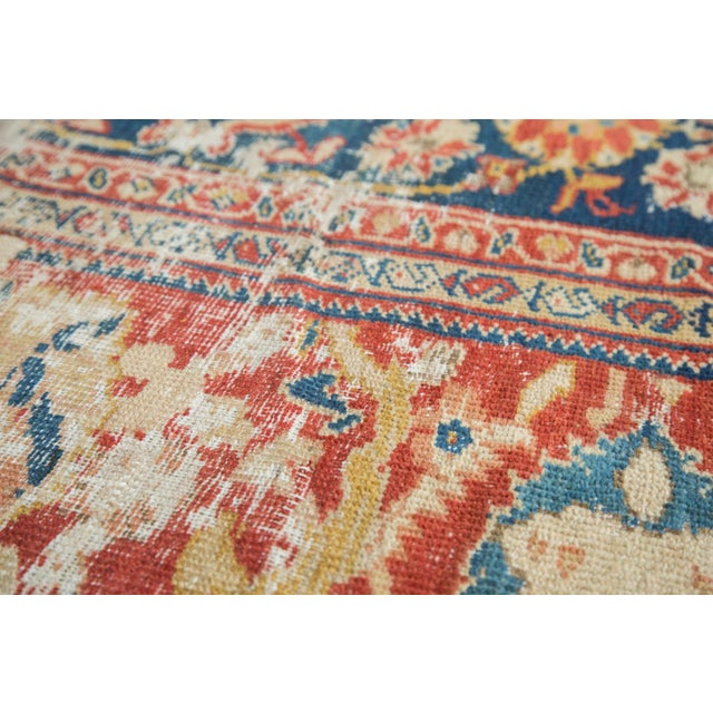 "Antique Distressed Ziegler Sultanabad Carpet - 9'9"" X 13'3"" For Sale - Image 10 of 10"