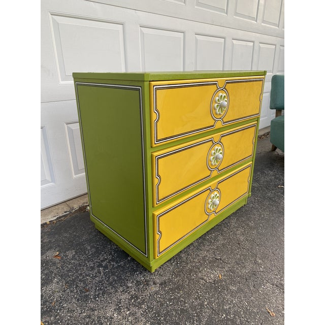Mid-Century Modern Mid 20th Century Drexel Peter Max Inspired Small Dresser For Sale - Image 3 of 12