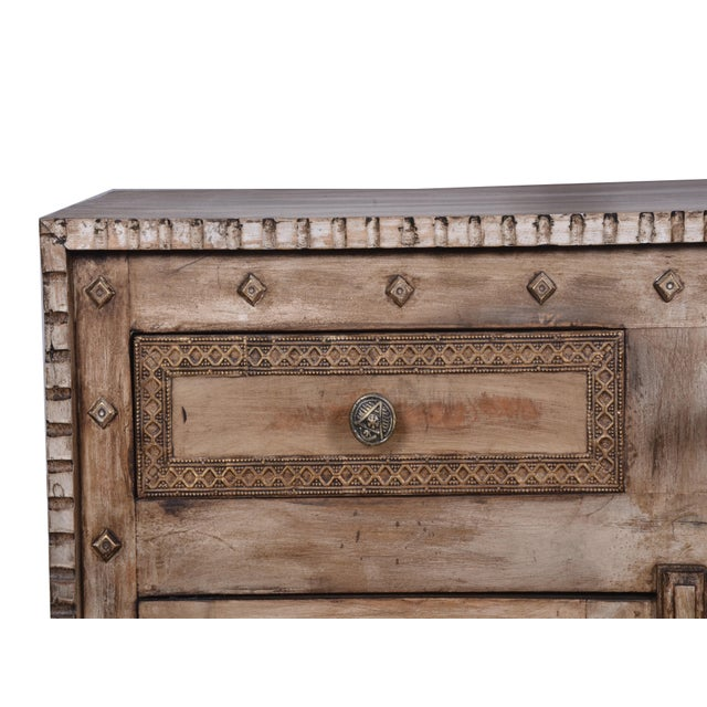 Rustic Style Two Drawer Mango Wood Cabinet/ Sideboard - Image 4 of 6