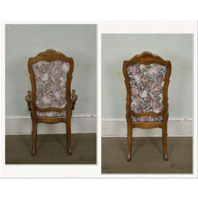 Thomasville Thomasville Vintage French Louis XV Style Set of 6 Dining Chairs For Sale - Image 4 of 12
