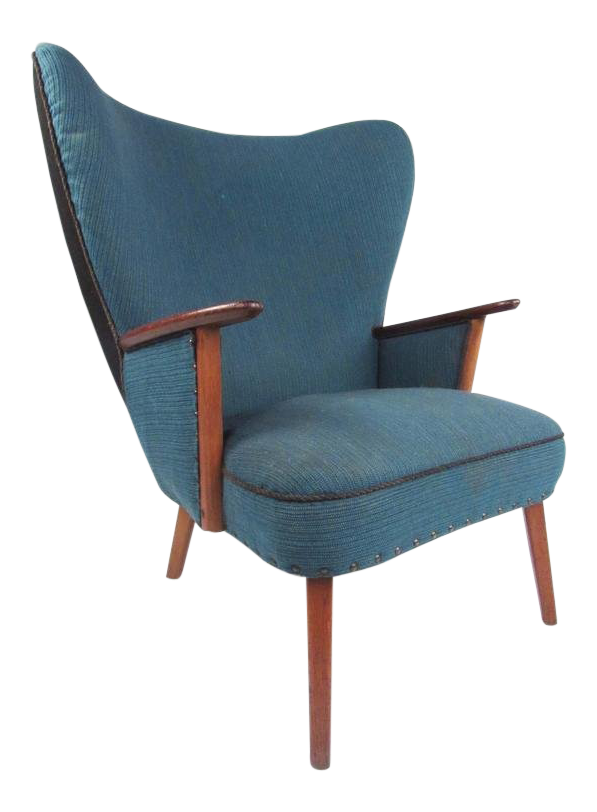 Madsen u0026 Schübel Pragh Wingback Lounge Chair  sc 1 st  Chairish & Vintage u0026 Used Wingback Chairs for Sale | Chairish