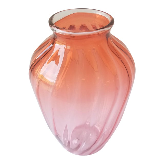 1987 Robbie Miller Blown Glass Vase for Traver Gallery Research For Sale