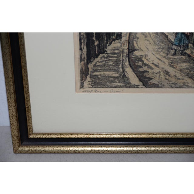 "Joseph Margulies (1896-1984) ""The Oldest Rue in Paris"" Etching W/ Aquatinit C.1930s For Sale In San Francisco - Image 6 of 11"