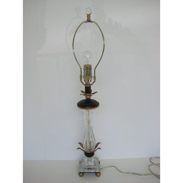 Schonbek Pirouette Swarovski Crystal Table Lamp For Sale - Image 5 of 8