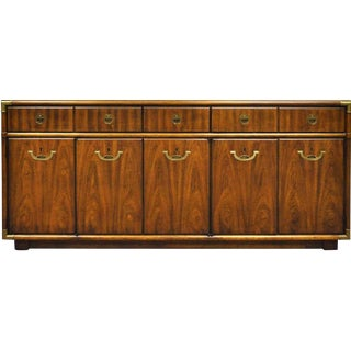 1970s Campaign Drexel Accolade Credenza Sideboard For Sale