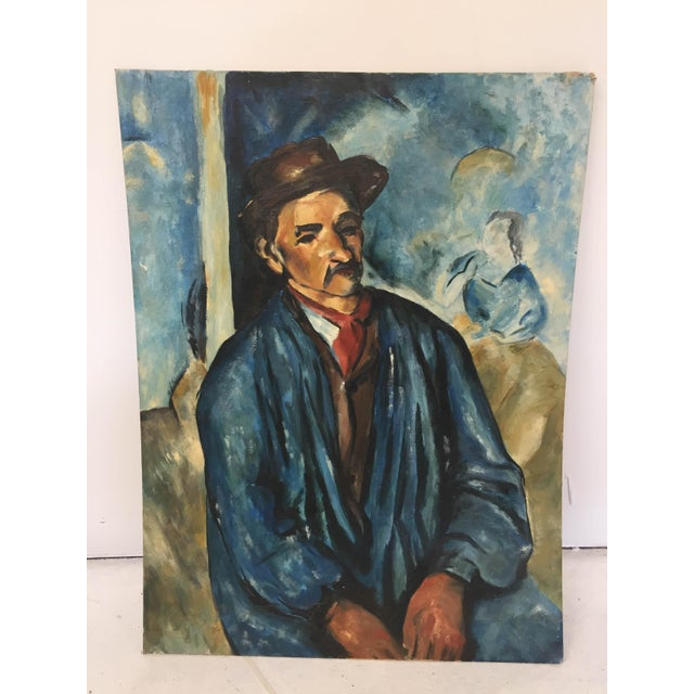 """Vintage Original Oil Painting Contemporary Study of Period """"Cezanne"""" Masters on Artist Board, actual d.1963 reverse,..."""