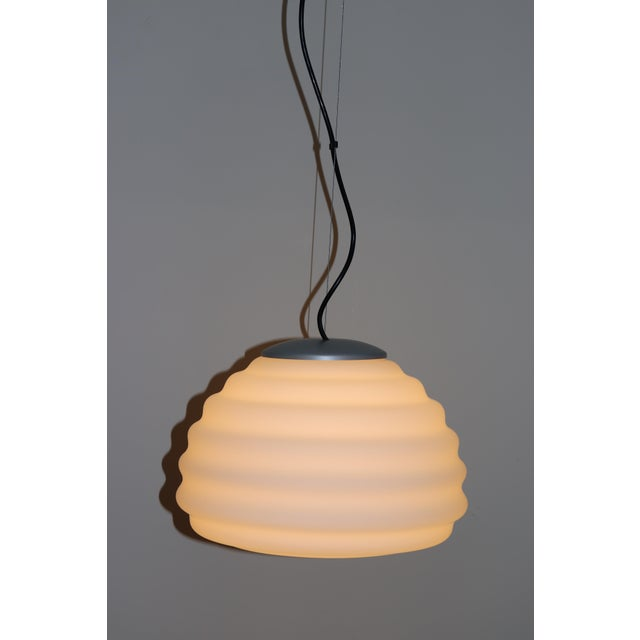 Late 20th Century Mid-Century Modern Murano Glass Pendant Lamp For Sale - Image 5 of 12