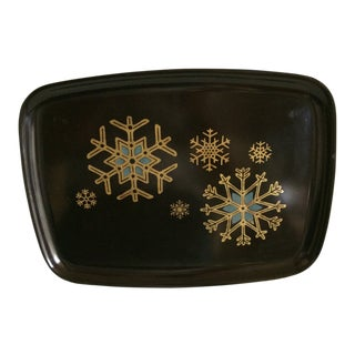 Mid-Century Modern Vintage Couroc Snow Flake Serving Tray For Sale
