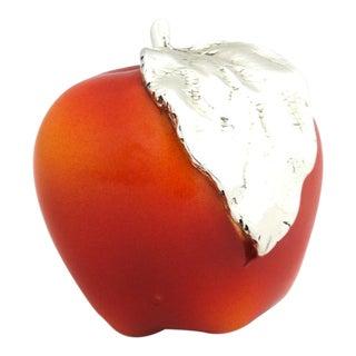 Marcello Giorgio Laminato Red Apple Paper Weight For Sale