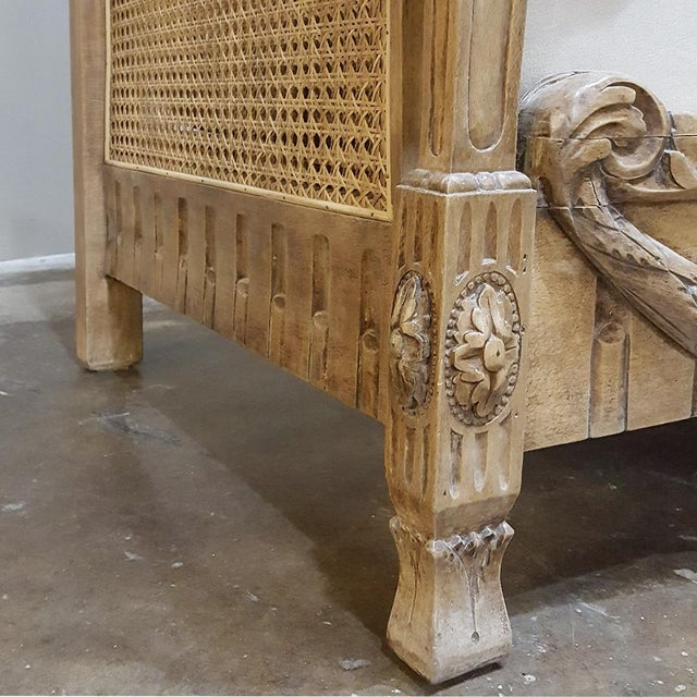 White 19th Century French Walnut Stripped Louis XVI Sofa For Sale - Image 8 of 12