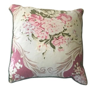 French Ralph Lauren Floral Aubusson Style Down Pillow For Sale