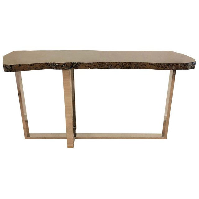 Not Yet Made - Made To Order Dark Nickel Console by Ponybox for FormA For Sale - Image 5 of 7