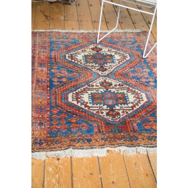 """Vintage Afshar Rug- 3'7"""" x 4'10"""" - Image 5 of 10"""