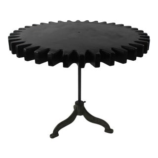 1980s Industrial STyle Giant Gear Top Dining Table For Sale
