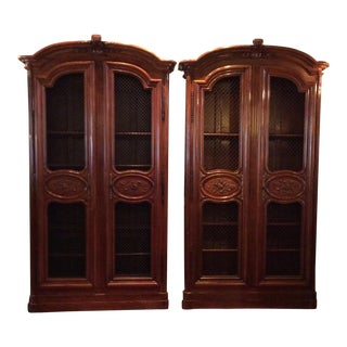 Large Antique Bookcases - A Pair