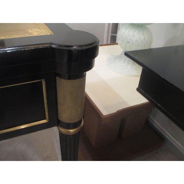 French Directoire-Style Ebonized Bureau Plat Desk For Sale - Image 4 of 8