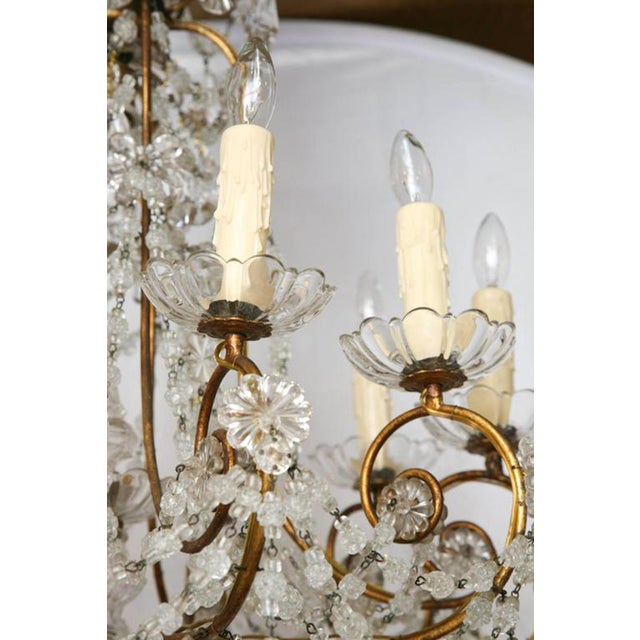 Early 20th Century Unusual Ten-Light Gilded Iron Italian Chandelier, Early 20th Century For Sale - Image 5 of 10