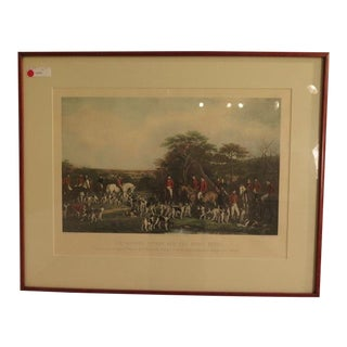 """English Hunt Scene"" Print in Cherry Frame by Francis Grant For Sale"
