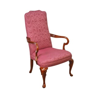 Pennsylvania House Cherry Queen Anne Library Arm Chair For Sale