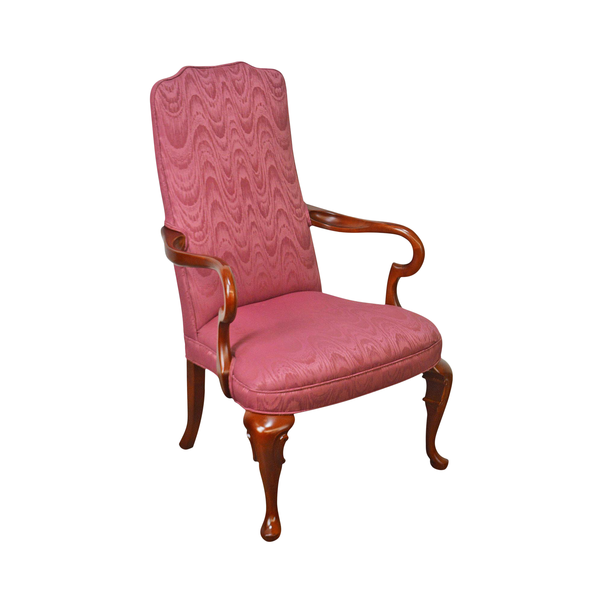 Pennsylvania House Cherry Queen Anne Library Arm Chair